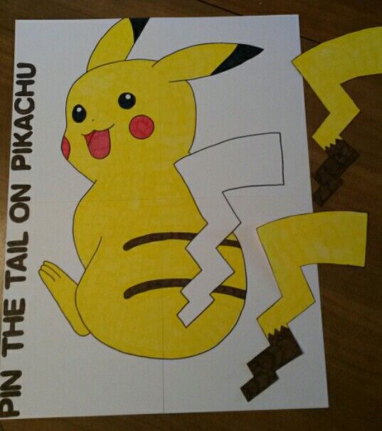 Best 25 pikachu tail ideas on pinterest pikachu game pokemon pin the tail on pikachu pronofoot35fo Image collections