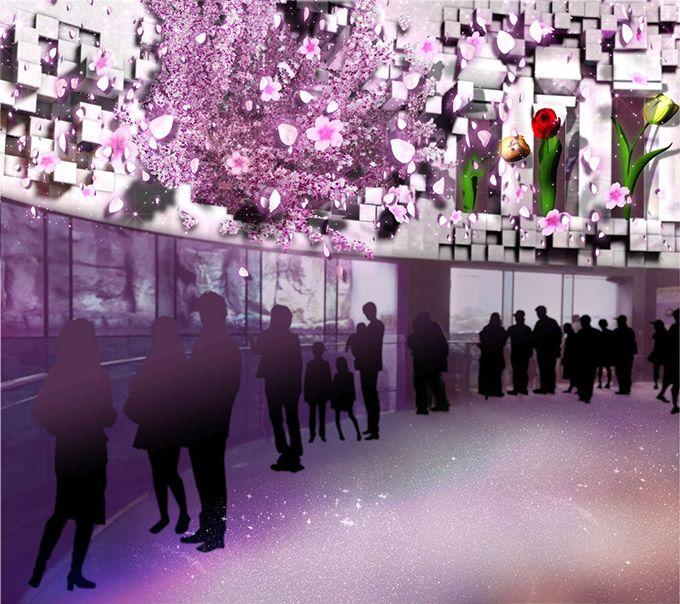 横浜・八景島シーパラダイス「楽園のアクアリウム」 - 最新技術で楽しむ、桜吹雪が舞う幻想的な水族館 | ニュース - ファッションプレス