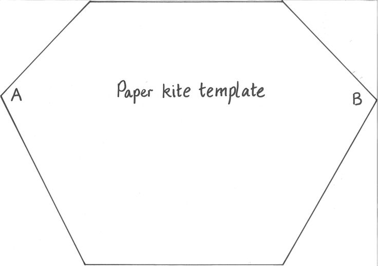 Paper Kite Template  Templates     Kite Template