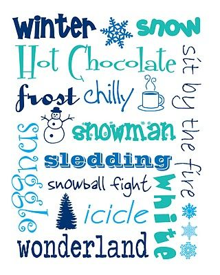 printable winter subway art: