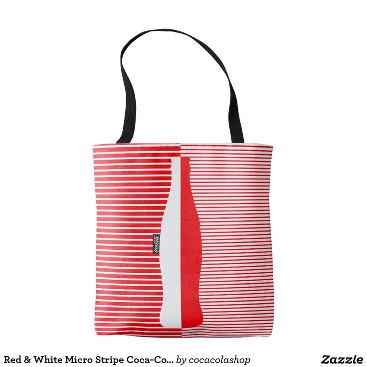 Red & White Micro Stripe Coca-Cola