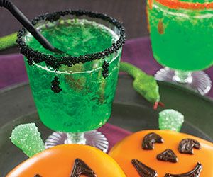 17 best images about favorite mocktail recipes on for Halloween green punch recipes alcoholic