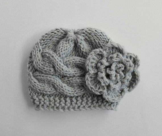 Newborn Baby Beanie Hat Knit Baby Hat Girls Beanie by KnittingLand, $18.50