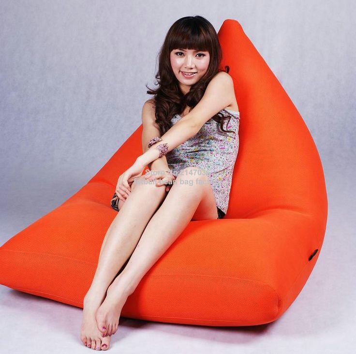 Orange outdoor bean bag furniture sofa seat - great cushion Benificail for your neck pillows