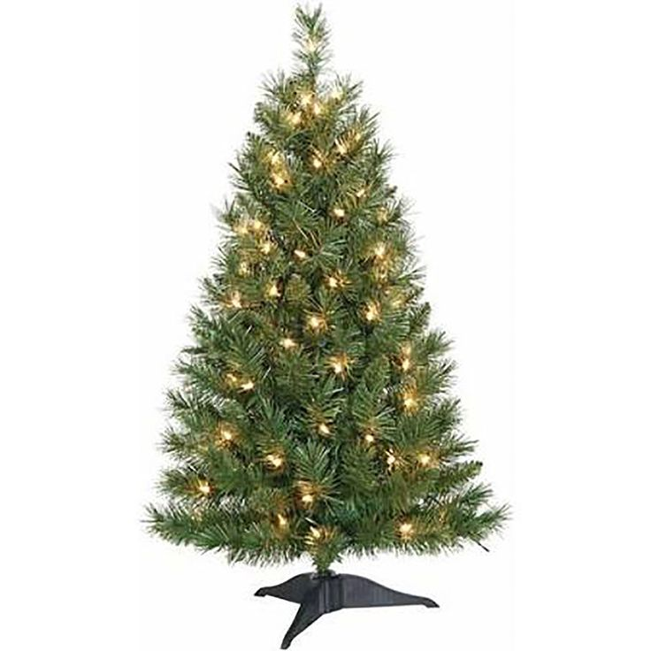 3ft Christmas Trees Artificial: Pre Lit 3 Ft Small And Colorful Artificial Christmas Tree