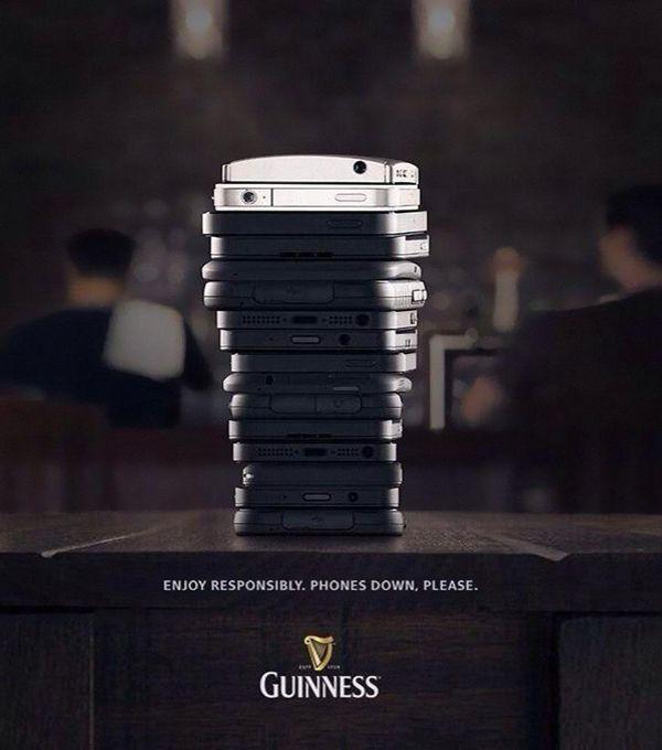 #Guinness #phonesdown