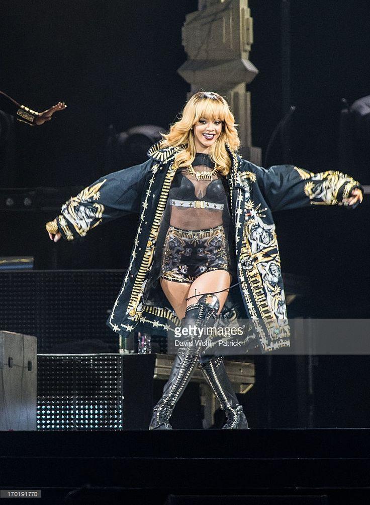 Rihanna performs at Stade de France on June 8, 2013 in Paris, France.