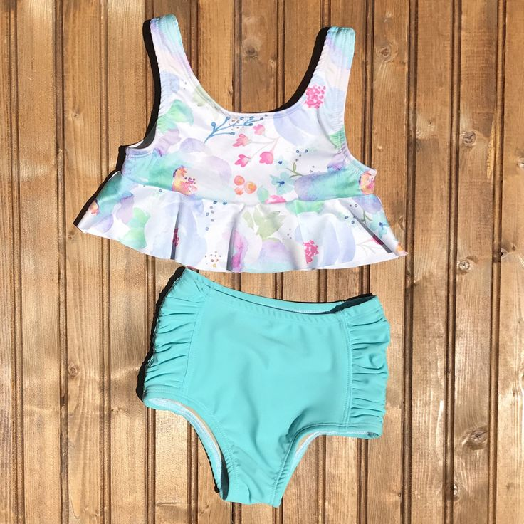 A personal favorite from my Etsy shop https://www.etsy.com/listing/530045389/high-waisted-baby-toddler-girls-swimsuit