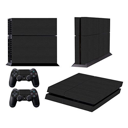 Skins for PS4 Playstation 4 Games Decals Stickers for Sony PS4 Games PS4 Controller Skin for PS4 Accessories Sticker for PS4 Console and Two Dualshock 4 Remote Play Vinyl Decal Carbon Black