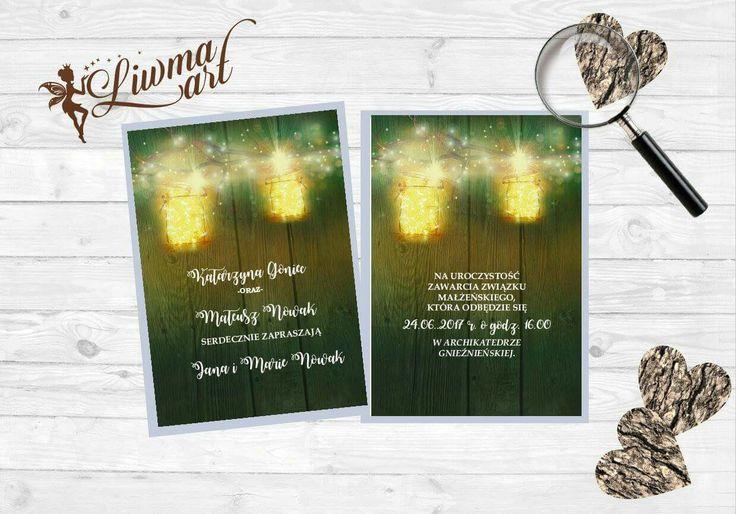 #zaproszenia #ślubne #zieleń #światło #idealne #na#wesele #weddingstyle #card #invitation #laterns #latarenki #światełka