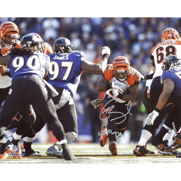 "Giovani Bernard Cincinnati Bengals Fanatics Authentic Autographed 8"" x 10"" Horizontal vs. Baltimore Ravens Photograph with Who Dey Inscription - $71.99"