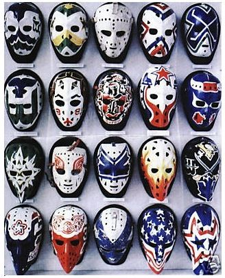 Vintage goalie masks