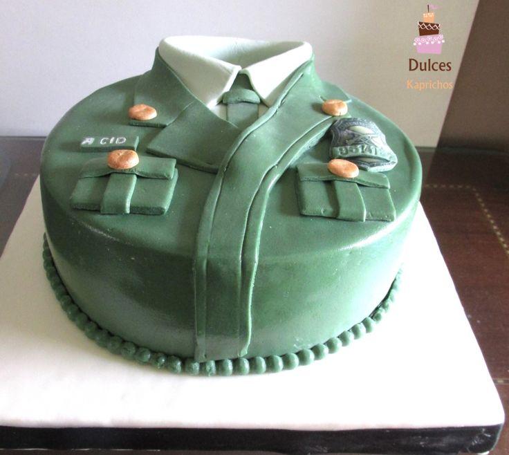 Torta para un Carabinero de Chile #TortaCarabinero #TortasDecoradas #DulcesKapichos