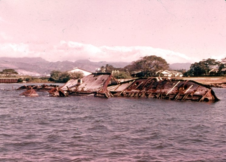 The wreck of the USS Utah AG-16 (former BB-31). Pearl Harbor