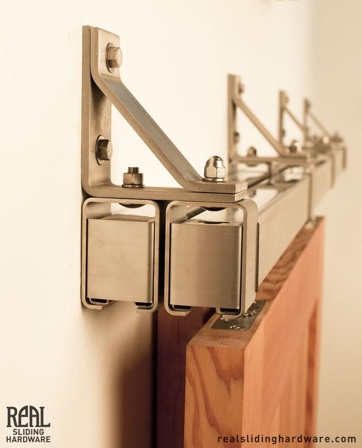 Stainless Box Rail Bypass Barn Door Hardware - Real Sliding Hardware