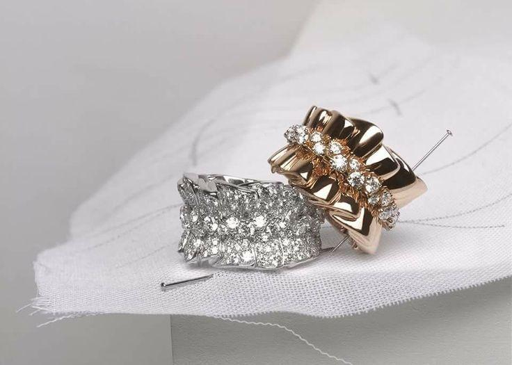 Dior bar en corolle rings