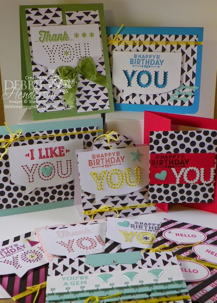 Wow! Debbie created a bunch of alternate cards with the Sew You Paper Pumpkin Kit from Stampin' Up!