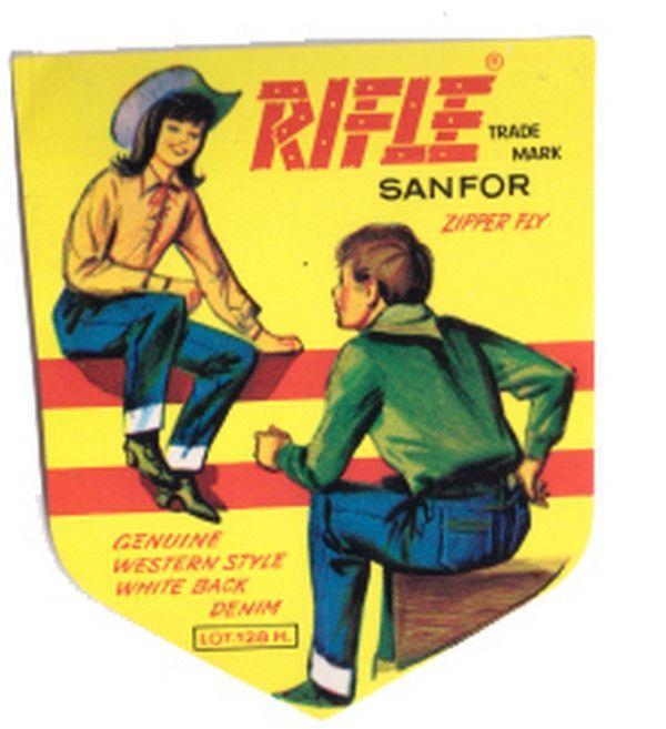 RIFLE jeans  80s Paninaro  sticker - autocollant - cromos -  adesiva mint