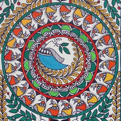 Online Shopping for Madhubani painting -Circle of life | Art Wall n Paintings | Unique Indian Products by Kalakruti - MKALA89942284090