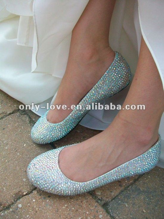 Sparkly Flat Wedding Shoes. These Might Be A Good Idea ...