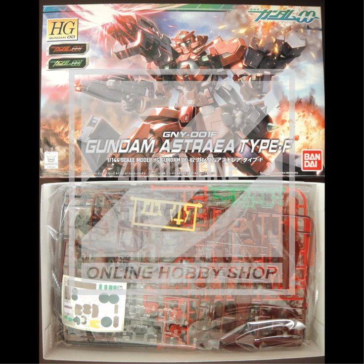 [MODEL-KIT] HG 1/144 - GNY-001F GUNDAM ASTRAEA TYPE-F. Item Size/Weight : 31 x 19 x 7.2 cm / 343g. (*ITEM SIZE & WEIGHT BEFORE PACKAGED). Condition: MINT / NEW & SEALED RUNNER. Made by BANDAI.