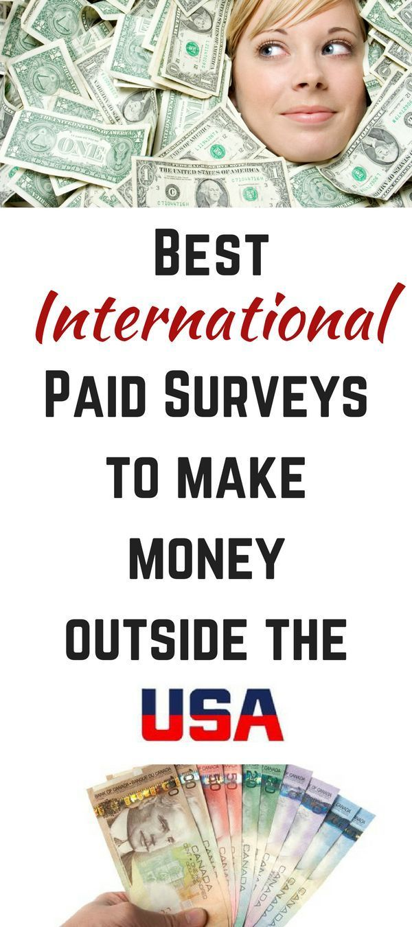 Best International Paid Survey Sites To Make Money Outside The Usa Paid Surveys Earn Money Online Fast How To Make Money