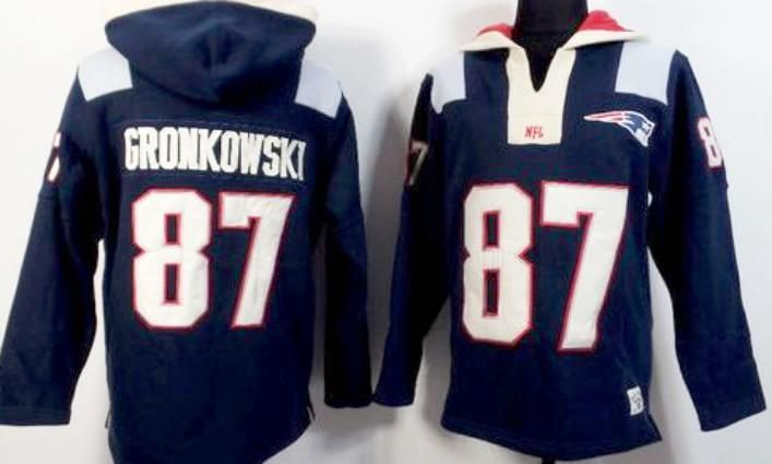 Rob Gronkowski New England Patriots Navy Blue NFL Pullover Hoodie