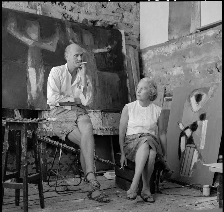345942PD: Artists Guy and Helen Grey-Smith in their studio, 1968.   http://encore.slwa.wa.gov.au/iii/encore/record/C__Rb2433353__S345942PD__Orightresult__U__X3?lang=eng&suite=def