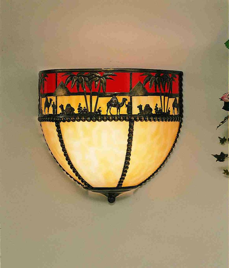 "12"" Wide Camel Wall Sconce"