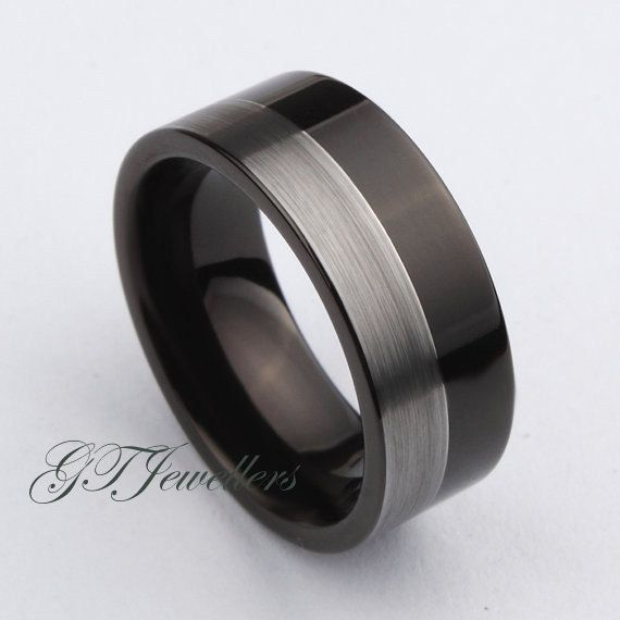 Black Tungsten Ring Brushed Tungsten Ring Wedding Ring Anniversary Man Woman Male Women Men Female Engagement His Hers by GTJewellers on Etsy