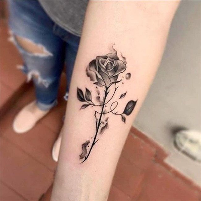 Simple Rose Arm Tattoos For Women Tattoos For Women Tattoos For Women Small