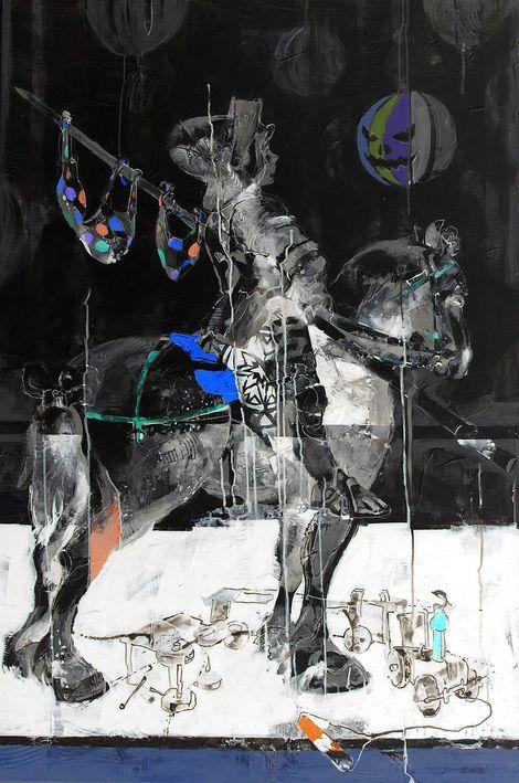 Janusz Tyrpak # Time to Albrecht Dure #-Sanct George #  150x100cm #  Janusz Tyrpak  on ArtStack # janusz-tyrpak # art