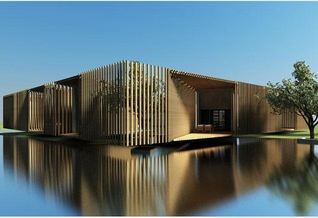 Tea House in Yangzhou, China by HWCD Associates