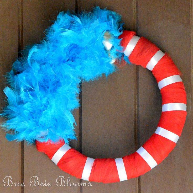Dr. Suess theme - this would be great with the teacher's initials on it somewhere...