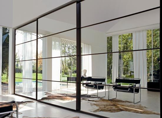 The Contemporary Fusama Wardrobe Design with Mirrored Sliding Doors - Home Interior Design