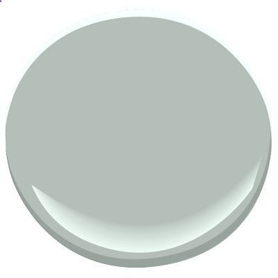 Benjamin Moore Beach Glass-pale, gray-blue that is soft and soothing, can look blue or green depending on the light