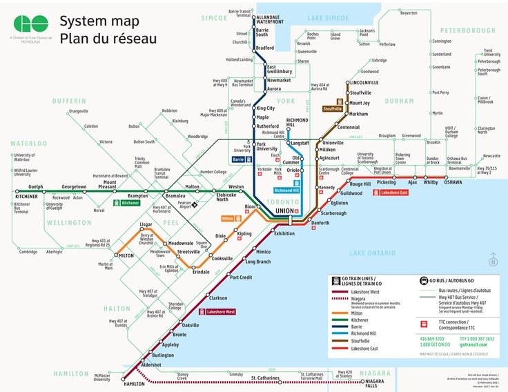 GO Transit - GO Service Map