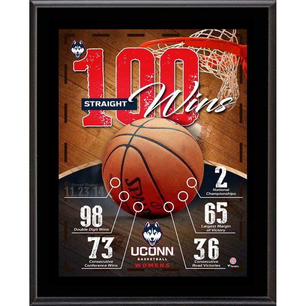 "Uconn Huskies Fanatics Authentic 10.5"" x 13"" Women's Basketball 100 In a Row Sublimated Plaque - $29.99"