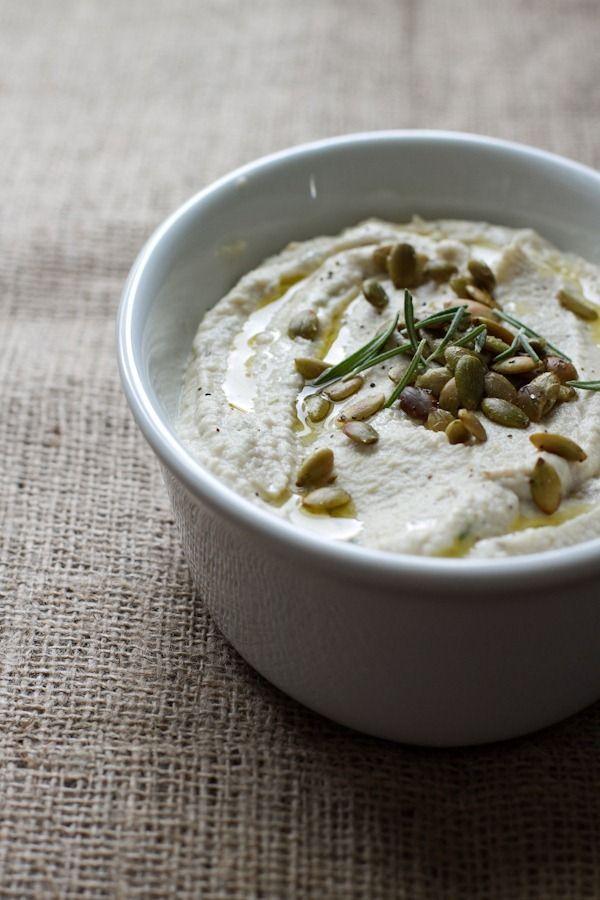 lemon herb cauliflower bean dip // edible perspective [entire recipe 31 g protein, 50 g net carbs]