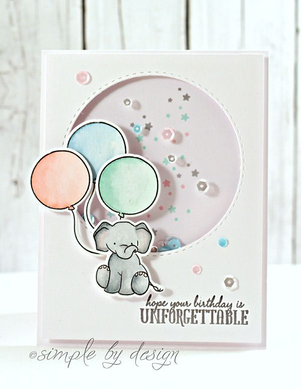 "Wplus9 ""Unforgettable"" Shaker Card 