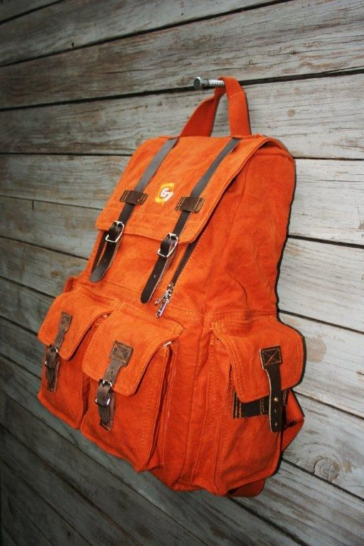 G7Utility.com canvas & leather back-pack/luggage