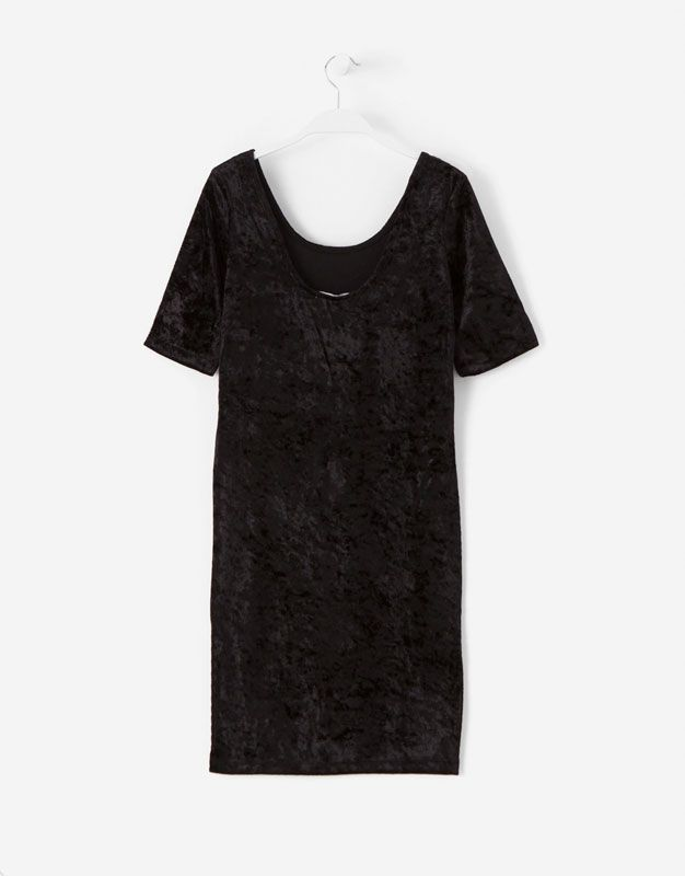 VESTIDO EVENING AJUSTADO VELVET - Evening Collection - Woman - | Lefties España