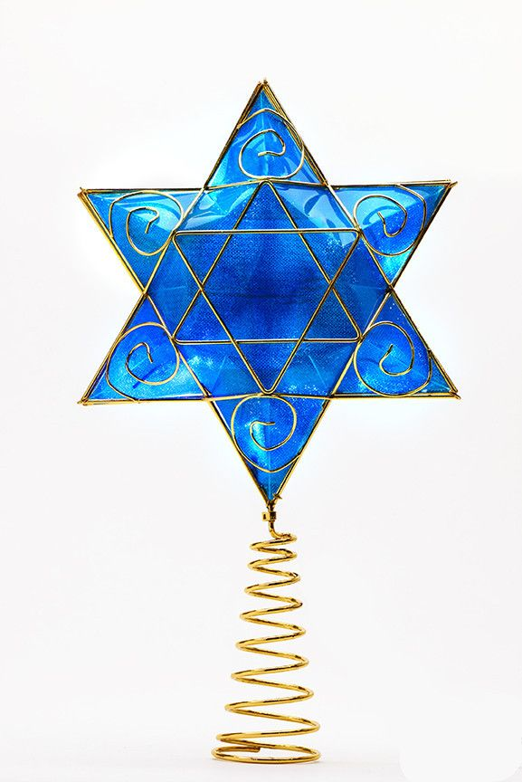 Lighted Deluxe Hanukkah Tree Topper®
