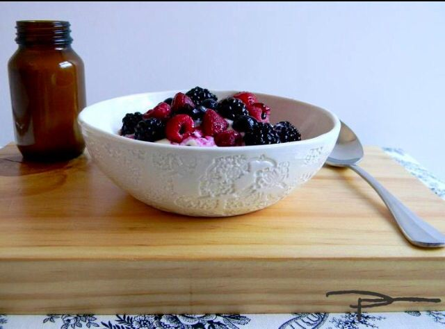 Berries and I Quit Sugar Granola in a Soup or Cereal bowl