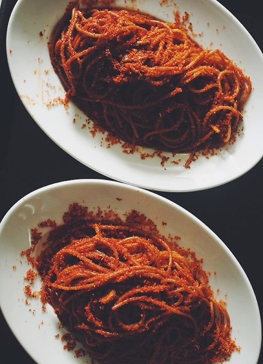 Ammollicato Pepe Rosso Pasta with breadcrumbs and red pepper