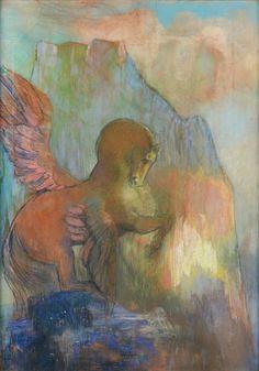 Odilon Redon (1840-1916), Pégase, pastel sur papier, 67,4 x 48,7 cm. Frais compris : 488 280 €. Jeudi 11 décembre, salle 9 - Drouot-Richelieu. Christophe Joron-Derem SVV.