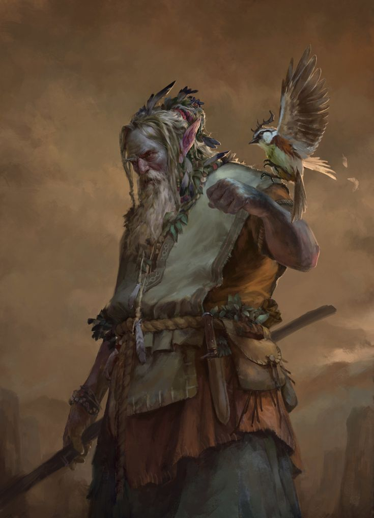 "cyrail: "" fantasyartwatch: "" Druid by Tomas Duchek "" Featured on Cyrail: Inspiring artworks that make your day better """