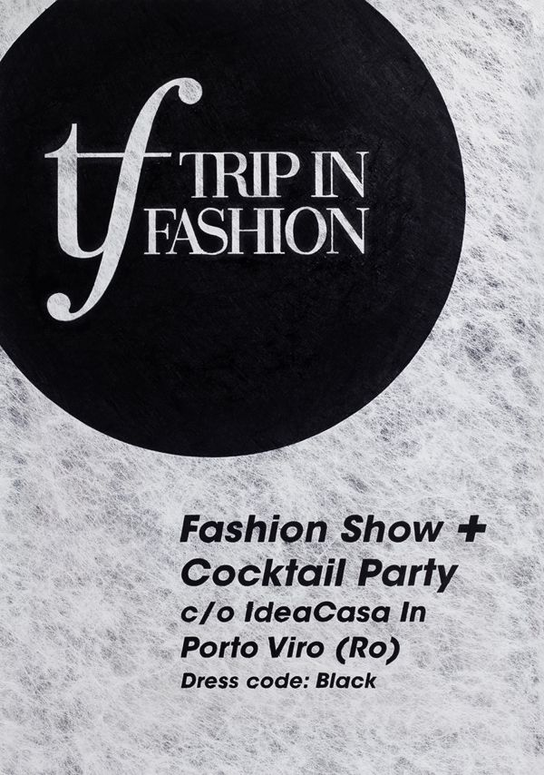 Trip in Fashion - Fashion Show Event Identity - Print design - Handmade Poster