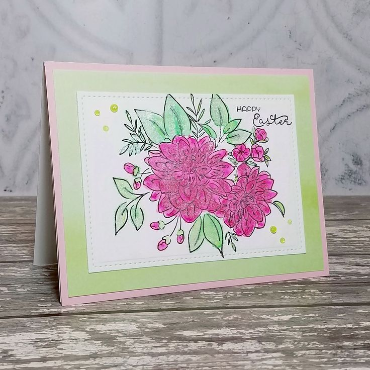Corilyn's Creations: Pink Dahlias #wplus9