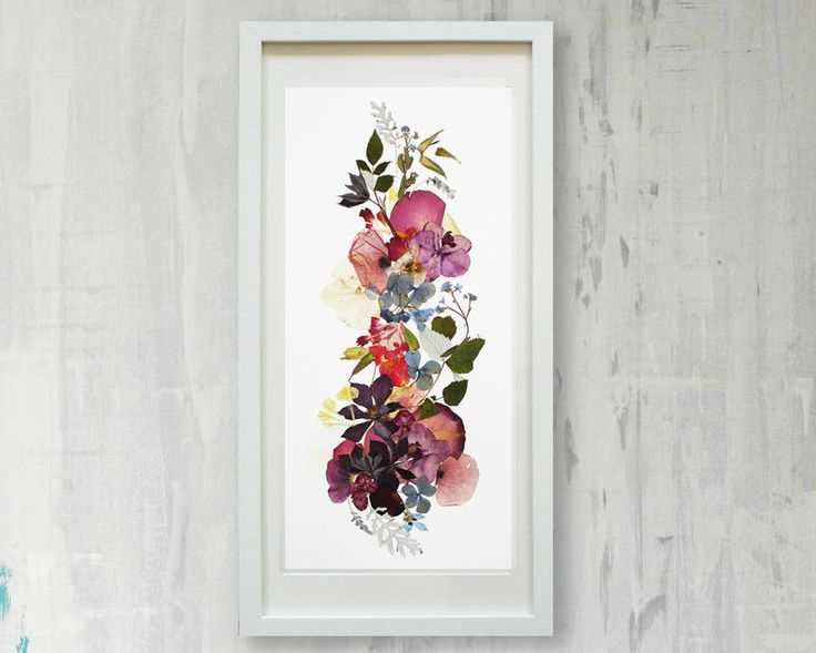 Floral print Pressed flowers wall art Botanical print Herbarium Botanical print set Flower prints wall art Dry flower artwork living room by FloralCollage on Etsy #botanical #pressedflowers #dryflower #print #flowers #floral #wallart